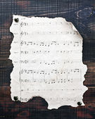 Old musical notes — 图库照片