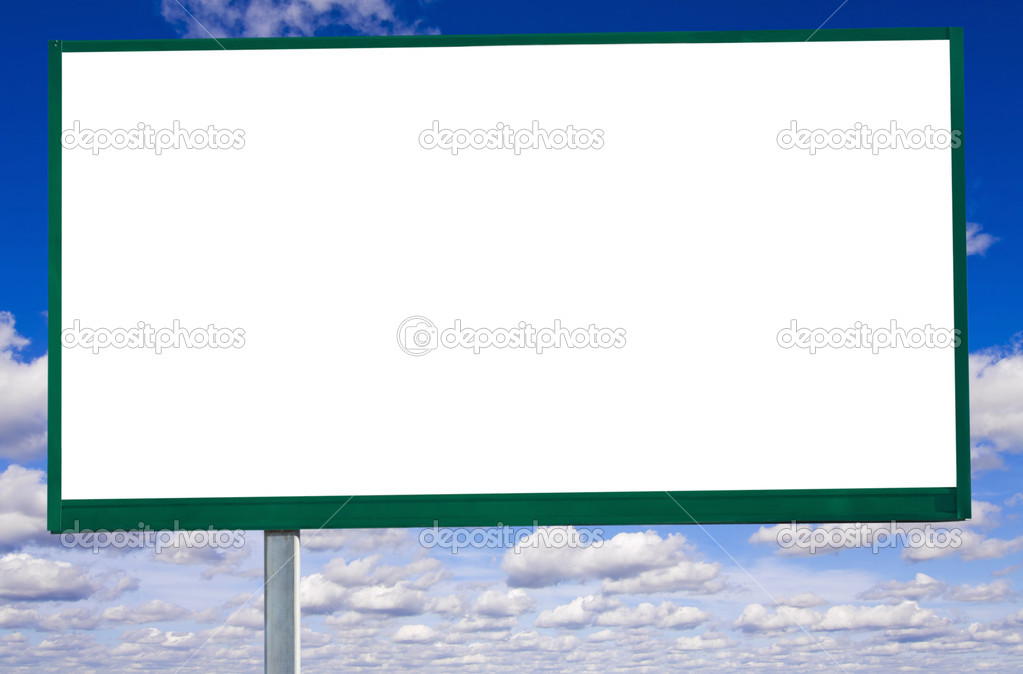 Billboard on sky background with clouds  — Stock Photo #5197474