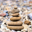 Stock Photo: Pyramid from stones built on hierarchy