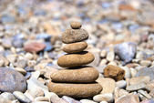 Pyramid from the stones built on hierarchy — Stock Photo