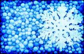 在抽象的蓝色背景雪花 — 图库照片