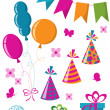 Celebration set — Vector de stock #3958355