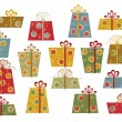 Set of colorful gifts — Stock Vector #3958442