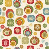 Christmas and New Year seamless background — Stock Vector