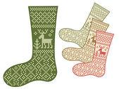 Calcetines con adorno tradicional — Vector de stock