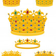 Stock Vector: Golden crowns