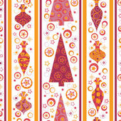 Seamless pattern with decorated trees and gifts — Wektor stockowy