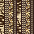 African style seamless with wild animal skin patterns — Stok Vektör
