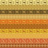 Safari pattern on striped background — Stock Vector