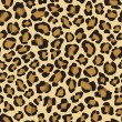 Seamless background with leopard skin pattern - Stock Vector