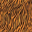 Tiger skin seamless background — Stock Vector