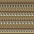 African style seamless pattern with wild animals - Image vectorielle