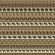 Royalty-Free Stock Vector Image: African style seamless pattern with wild animals