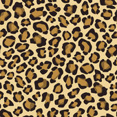 Seamless background with leopard skin pattern — Stock Vector