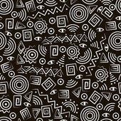 Art tribal. modèle sans couture avec des figures abstraites — Vecteur