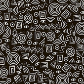 Tribal art. Seamless pattern with abstract figures — Vecteur