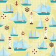 Ship pattern - Stock Vector