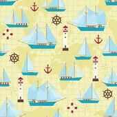 Ship pattern — Stock Vector