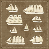 Set of ship icons — Stock Vector