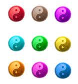 Yin Yang fluffy ball — Stock Photo