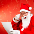 Stock Photo: Cheerful santa