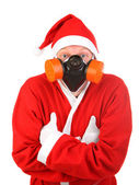 Man in santa claus costume — Stock Photo