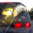 Wet windshield - Stock Photo