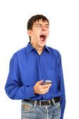 Yawning teenager — Stock Photo