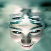 Face under water — Stock Photo