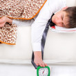 Teenager sleeping — Stock Photo