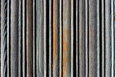 Striped wooden plate — Stock Photo