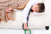 Teenager sleeping — Stock Photo