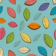 Seamless pattern with leaves -  