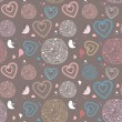 Royalty-Free Stock Vector Image: Seamless pattern with birds and hearts