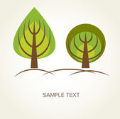 Trees. Vector background — Stock Vector