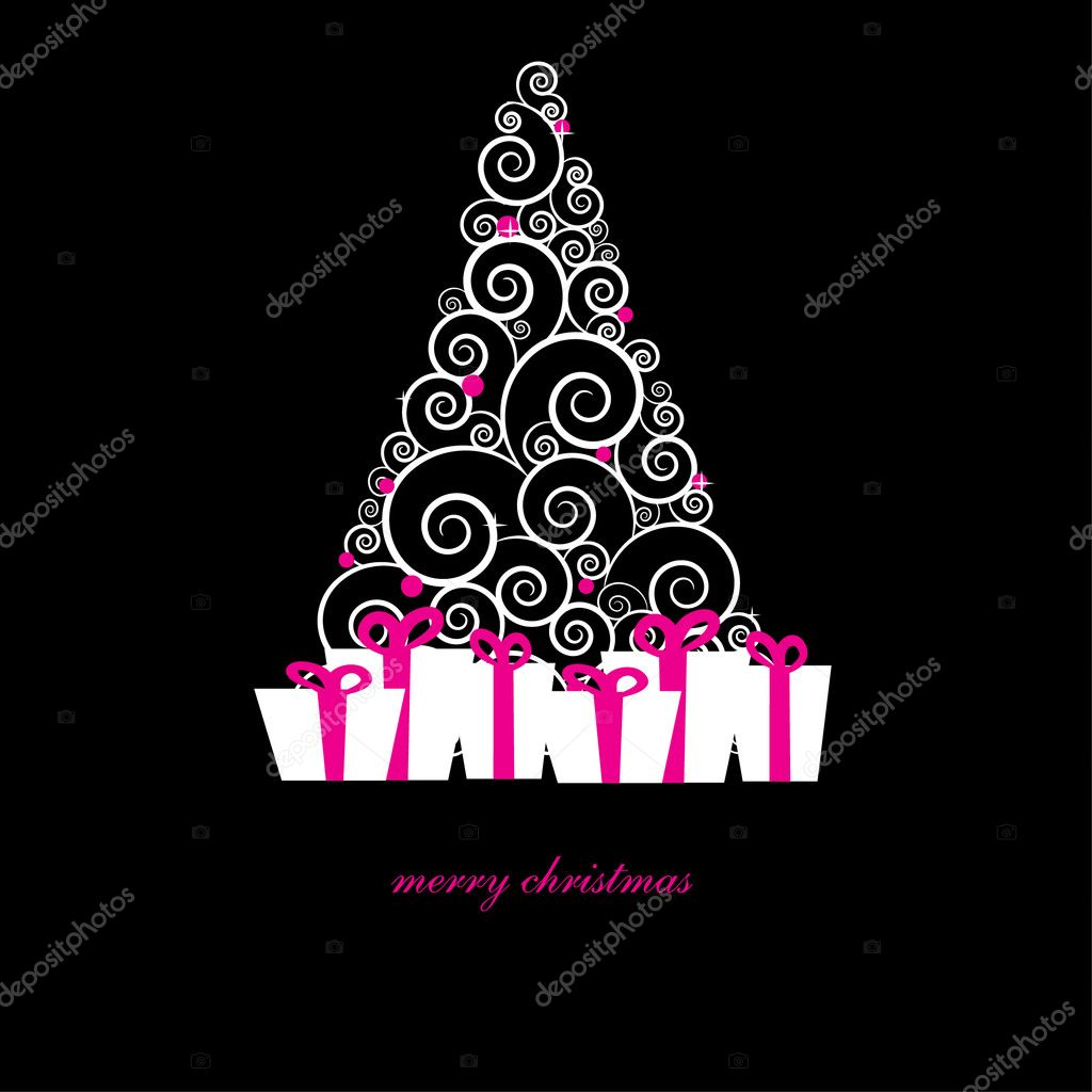 Gift boxes under christmas tree  Stock Vector #4085189