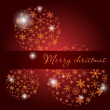 Dark christmas card with tree balls - Image vectorielle