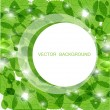 Fresh green leaves and lights. Ecological vector background — Imagen vectorial