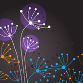 Pastel flowers — Stock Vector