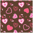 Hearts flowers. Valentines card — Stockfoto