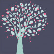 Hearts tree. Valentines card — Foto de Stock