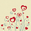 Royalty-Free Stock Photo: Hearts flowers. Valentines card