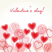 Hearts flowers. Valentines card — Stock Photo