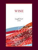 Vector wijn labelontwerp — Stockfoto
