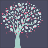 Hearts tree. Valentines card — Stock Photo