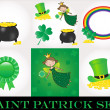 St Patrick day set — Stock Photo