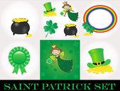 St Patrick day set — Stock Photo