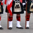Scottish Uniforms — Stock Photo
