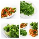 Čerstvé mražená zelenina — Stock fotografie
