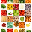 Collage of fruits and vegetables - Stock Photo